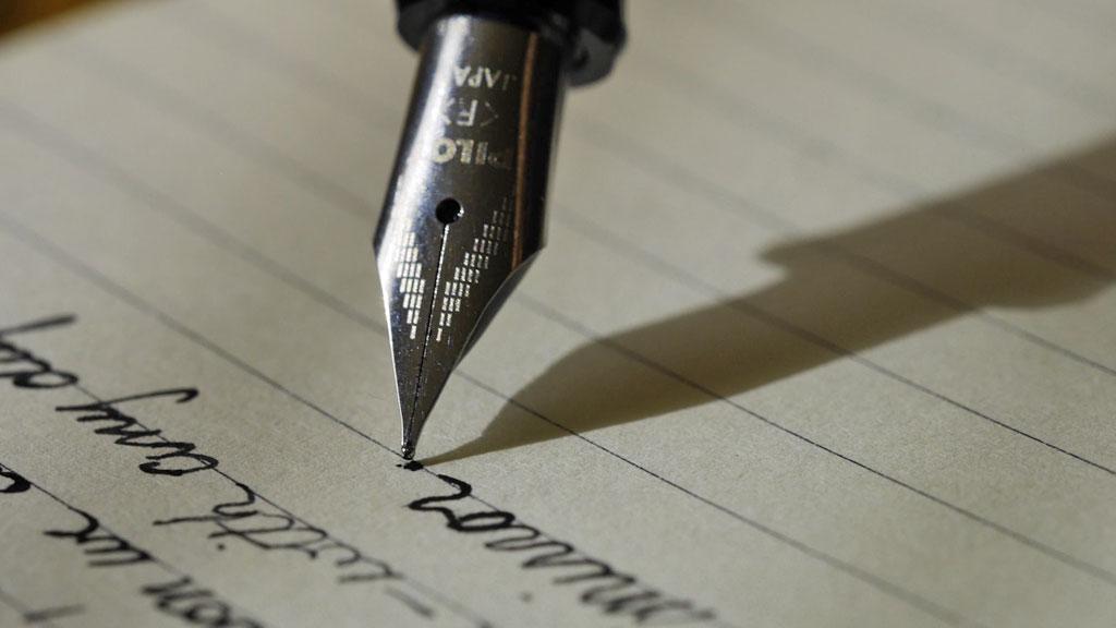 Wie schrijft, die blijft…